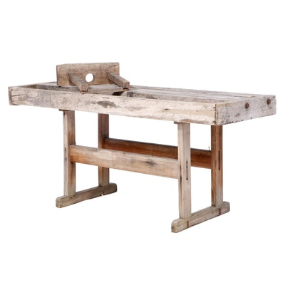 American Primitive Wood Workbench, Late 19th/Early 20th Century