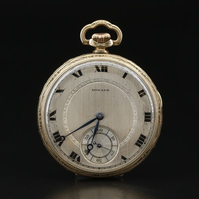 1917 E. Howard Watch Co. Open Face Pocket Watch