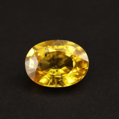Loose 1.47 CT Yellow Sapphire
