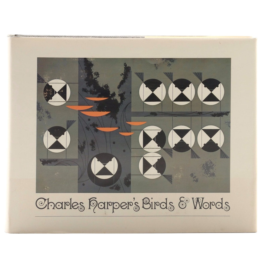 "Signed First Edition ""Charles Harper's Birds & Words"" by Charley Harper, 1974"