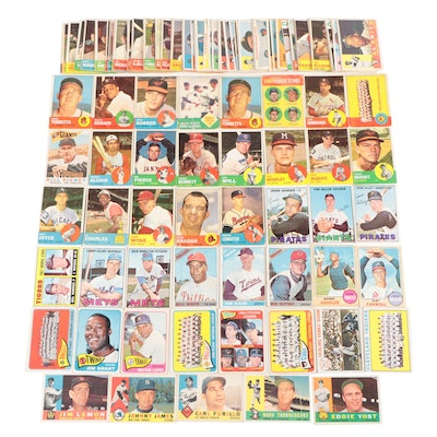 I960s Topps Baseball Cards with Stars