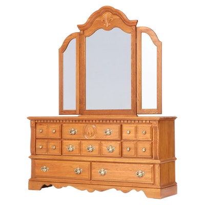 "Athens Furniture ""Fairmont Collection"" Oak Dresser"