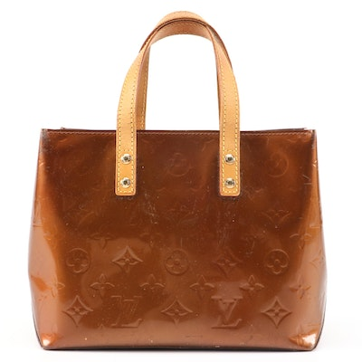 Louis Vuitton Reade PM in Bronze Monogram Vernis and Vachetta Leather