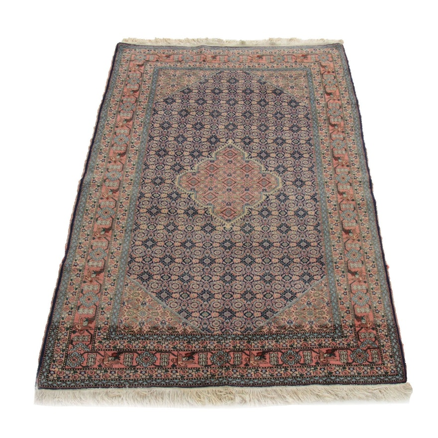 4'8 x 7'6 Hand-Knotted Persian Lilihan Rug