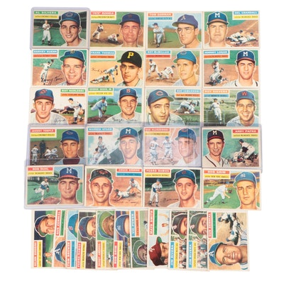 1956 Topps Baseball Cards with Hall of Fame Pitcher Warren Spahn