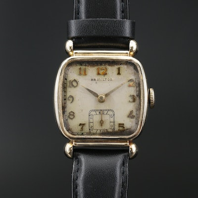 "1941 Hamilton ""Coral Martin"" 10K Gold Filled Stem Wind Wristwatch"