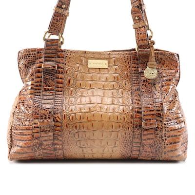 Brahmin Tote Bag in Crocodile Embossed Leather