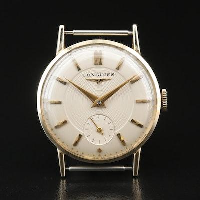 1953 Longines 14K Gold Stem Wind Watch