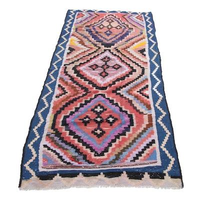 4'8 x 12'3 Handwoven Persian Kilim Wool Rug