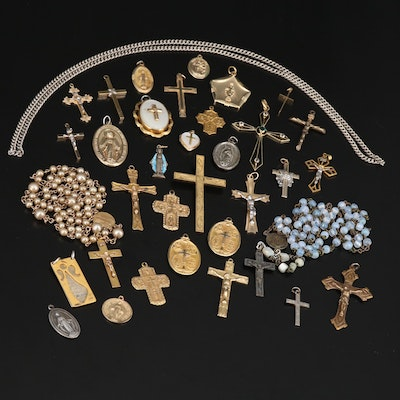 Religious Themed Jewelry with 800 Silver, Sterling Silver and Gemstones