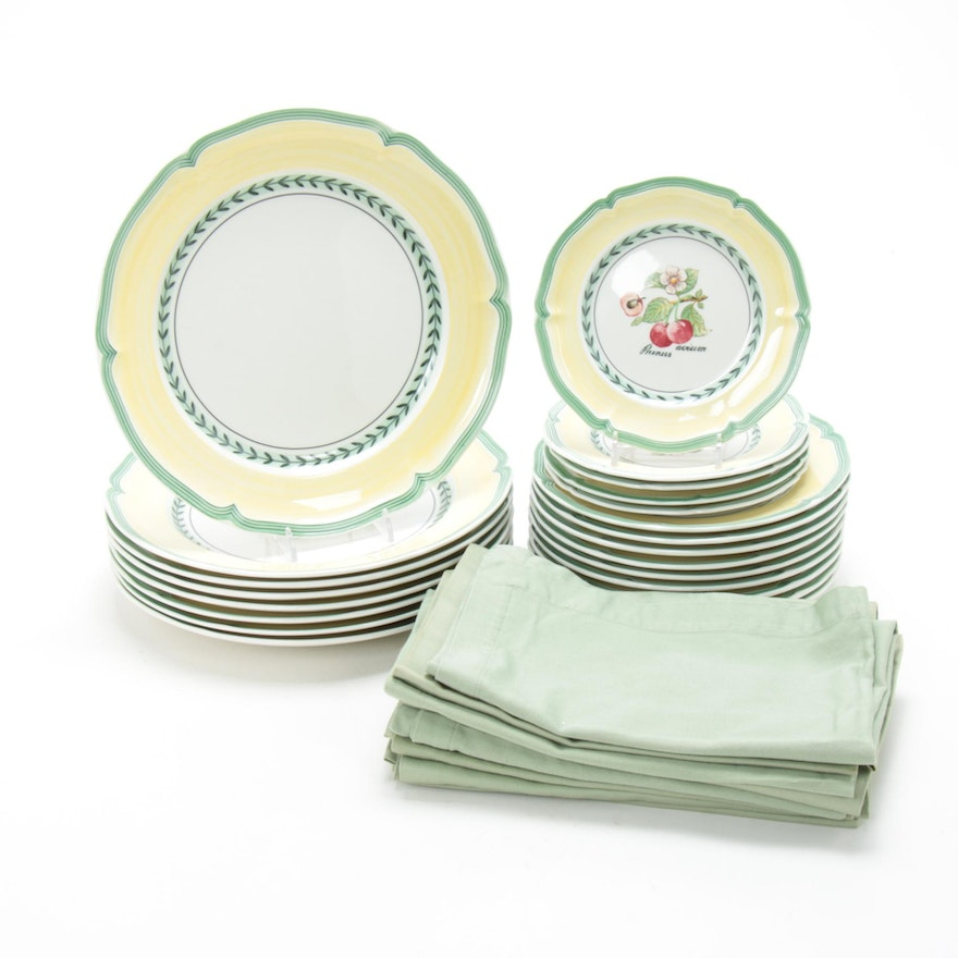 "Villeroy & Boch ""French Garden Valence"" Porcelain Dinnerware and Napkins"