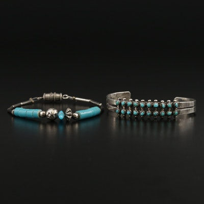 Southwestern Style Sterling Silver Turquoise Child's Bracelets