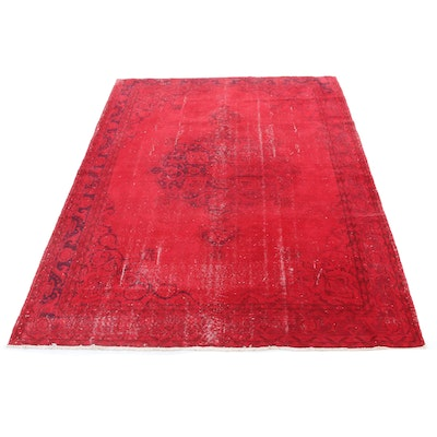 7'3 x 10'11 Hand-Knotted Turkish Overdye Wool Rug