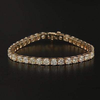 14K Gold 10.89 CTW Diamond Bracelet