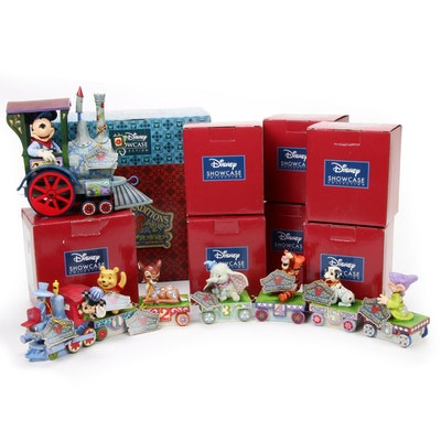 Jim Shore Walt Disney Birthday Train Figurines