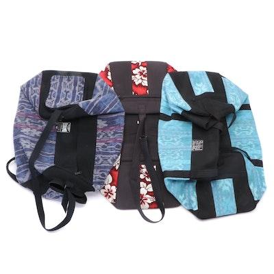 Bali Hibiscus Print Duffel and Other Bali Silk Fabric Duffel Bags