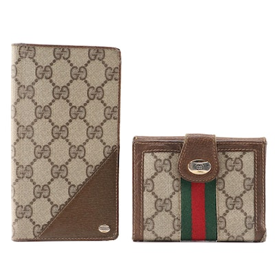 Gucci Accessory Collection GG Coated Canvas Wallet and Checkbook Cover