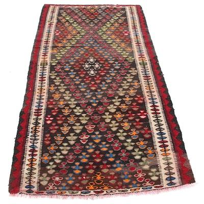 4' x 7'8 Handwoven Persian Wool Rug, Antique