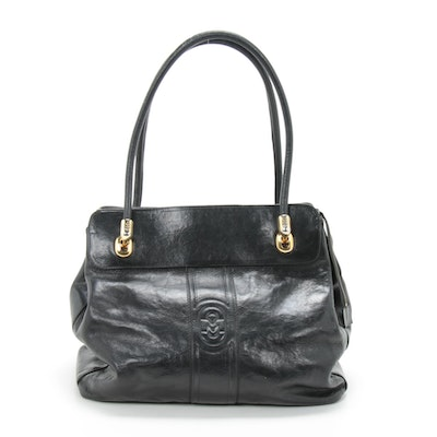 Marino Orlandi Satchel in Black Leather
