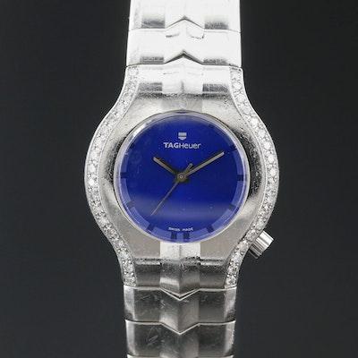 "TAG Heuer ""Alter Ego"" Diamond Bezel Stainless Steel Quartz Wristwatch"