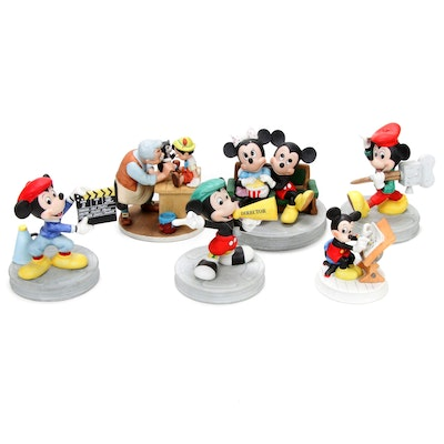"Walt Disney Limited Edition ""Pinocchio"" and Other Mickey Mouse Figurines"