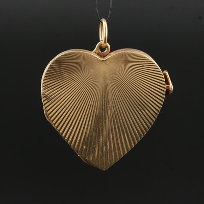 Vintage 14K Multi-Frame Heart Locket
