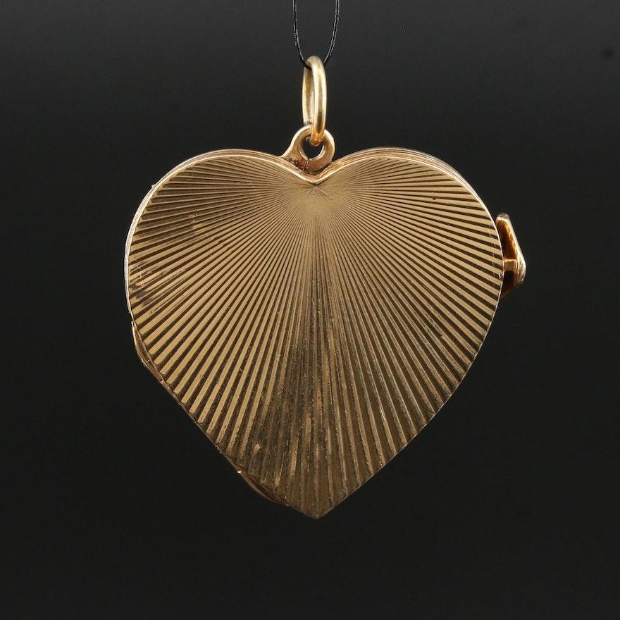 Vintage 14K Multi-Frame Heart Locket