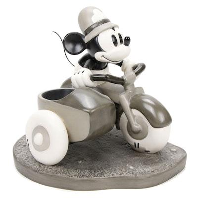 "Walt Disney ""The Dognapper"" Black and White Mickey Police Patrol Figurine"