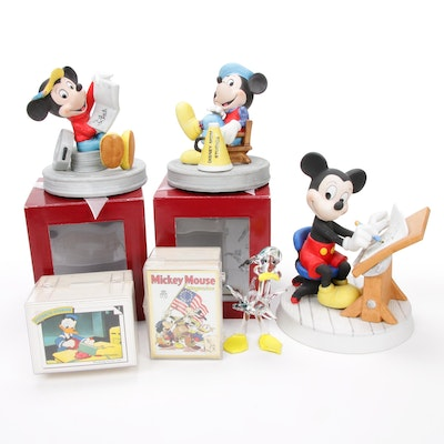 Mickey Mouse Porcelain Figurines and Trading Cards