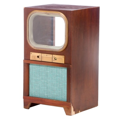 General Electric Mahogany TV Cabinet, Mid-20th Century