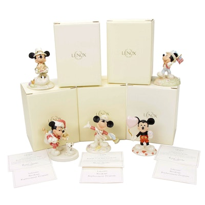 Lenox Walt Disney Showcase Collection Holiday Figurines