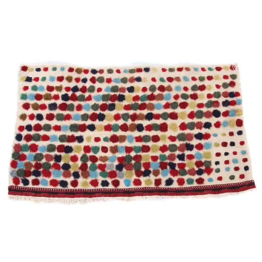 1'3 x 2'2 Handwoven Afghani Wool Rug