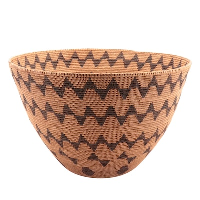 Hand Woven Basket Attributed to the Tohono O'odham Nation, 20th Century