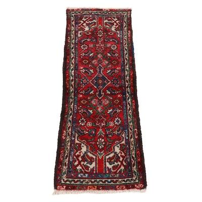 1'9 x 5'0 Hand-Knotted Persian Zanjan Rug Runner, 1920s