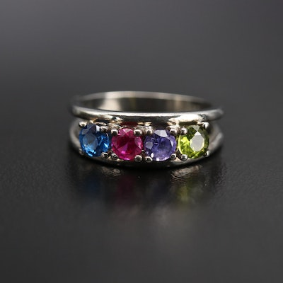 10K Spinel and Sapphire Ring