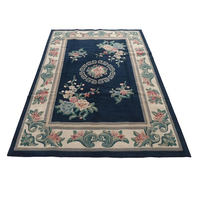 7'10 x 11' Power Loomed European Rug with Chinese Motif, 2000s