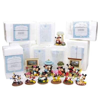 The Bradford Exhange and Other Limited Edition Mickey and Minnie Mouse Figurines