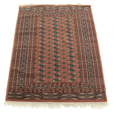 4'3 x 6'1 Hand-Knotted Persian Bokhara Rug