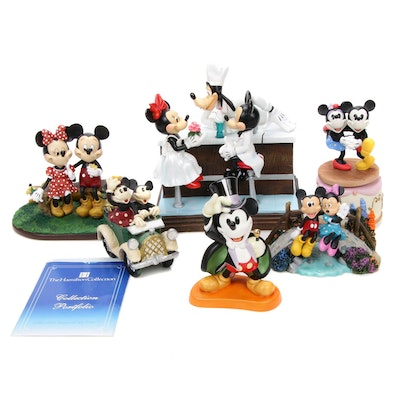 Walt Disney Mickey and Minnie Limited Edition, Music Box, and Figurines