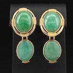 18K Jadeite Earrings with Enhancer Drops