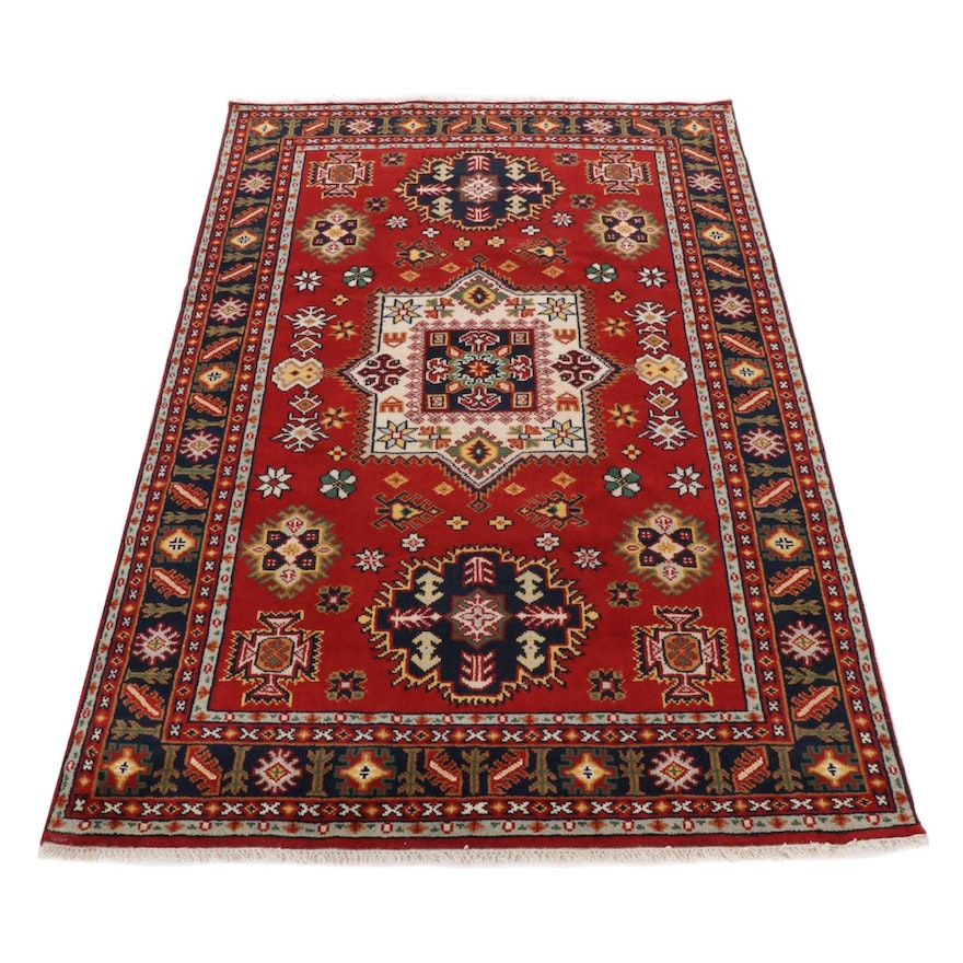 6' x 9'1 Hand-Knotted Indo-Northwest Persian Rug, 2010