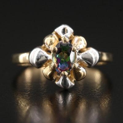 14K Mystic Topaz Ring