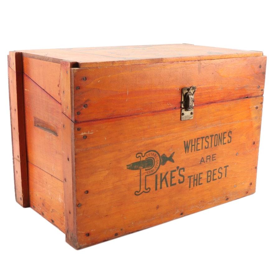Pikes Whetstone Wood Advertising Box