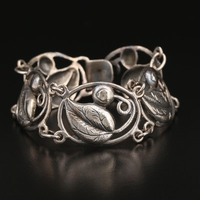 1930s - 1940s Sterling Silver Bracelet