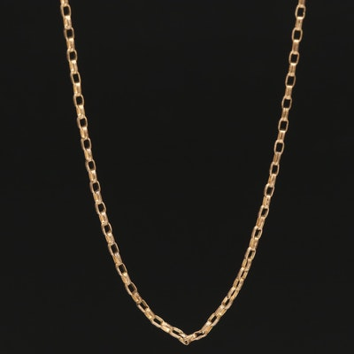 Vintage Gold Filled Cable Chain Necklace