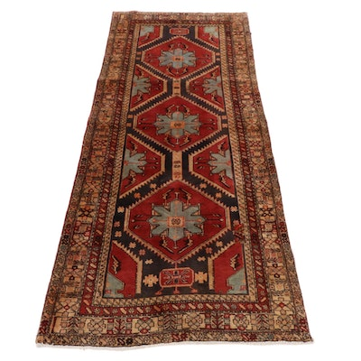 4'4 x 10'1 Hand-Knotted Northwest Persian Wide Rug Runner, 1960s