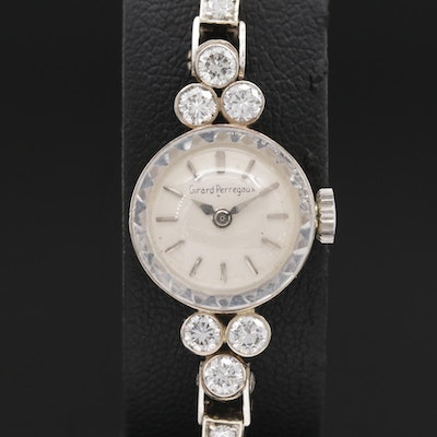 Girard Perregaux 14K 1.32 CTW Diamond Stem Wind Wristwatch