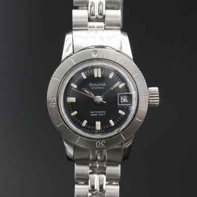1967 Bulova Snorkel Stainless Steel Automatic Wristwatch