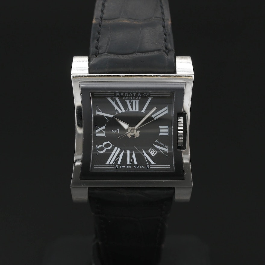 """Bedat & Co. """"No.1"""" Stainless Steel Automatic Wristwatch"""