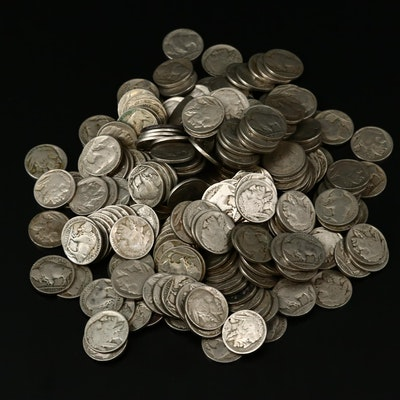 Two Hundred and Fifty Assorted Vintage Buffalo Nickels